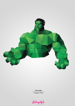 The Hulk - Polygon Pixel by matu666
