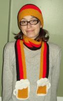 Germany Scarf with Beer Mugs by YarnAlchemy