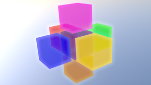 Glowing cubes V2 by Cubicay