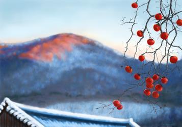 Winter Persimmon by abyss1956