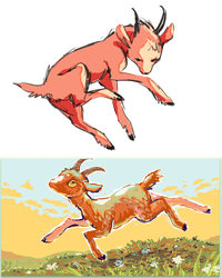 red goats by Sout