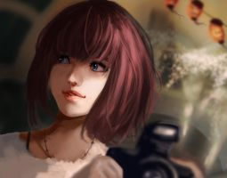 Portrait of a Girl with a Camera by Daidus
