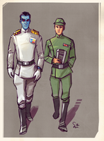Admiral Thrawn and officer by ChemicalAlia