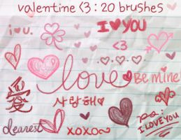 Valentine's Day Brushes by coy-dreamer