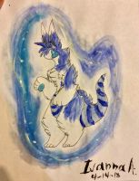 Arctic ice watercolor by Perma-Fox
