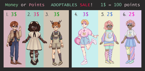 Adoptables Sale! [OPEN] by octopws
