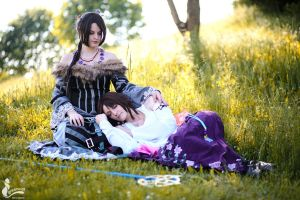 Yuna + Lulu ~ Final Fantasy by greengreencat