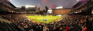 Oriole Park at Camden Yards (iPhone panorama) by maxlake2