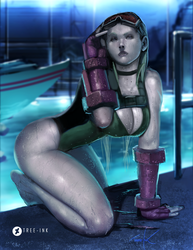 Cammy all wet by Tree-ink
