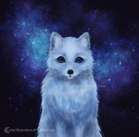 Arctic Fox by ARiA-Illustration
