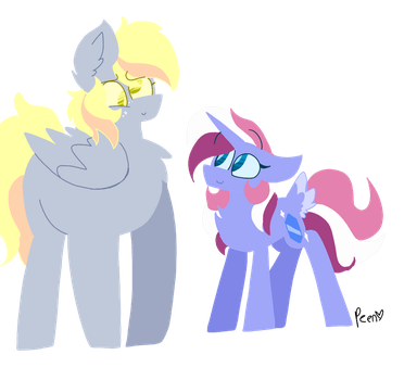 Mrs and Mrs hooves by PeanutTheChub