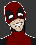 Deadpool smile by Alexis-Croft