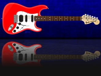 Red Strat Reflect1 SM by KevyMetal