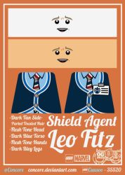 LEGO SHIELD Agent - Leo Fitz by Concore