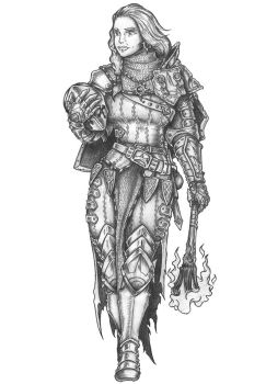 Varya The Saint - Human Paladin by s0ulafein