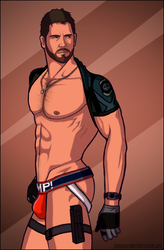 Chris Redfield Jockstrap by DaemonCollection