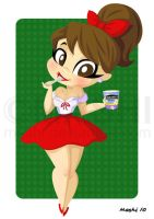 Girl with Ice Cream by mashi