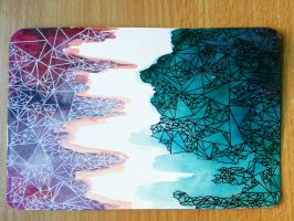 Abstract Geometric Postcard III by IsabelleMaria