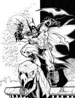 Batman commission inks by JoeyVazquez