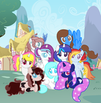 MLP Me and my friends Speedpaint! by DrawingwithBleona