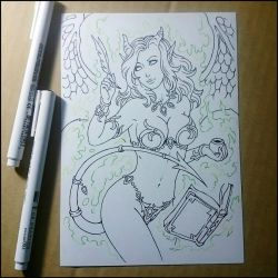 Sketchbook - Sexy librarian. by Candra