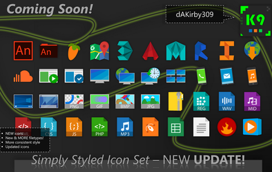 UPDATE PREVIEW #1 - Simply Styled Icon Set by dAKirby309