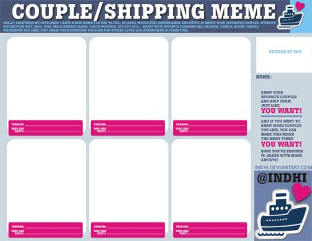 COUPLE SHIPPING MEME by indhi