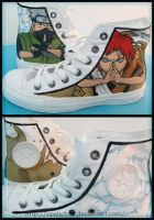 Naruto shoes by OpaliChan