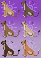 Lioness Point Adopts - CLOSED by Nala15