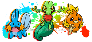Third Gen Starters by FissionBase