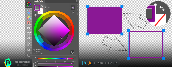 Tip#68: Exchange Vector colors in Photoshop by Anastasiy