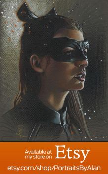 Catwoman - Original Anne Hathaway Portrait by PortraitsByAlan