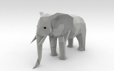 Low poly Elephant by Cal-iber