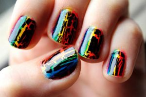 Rainbow and Black Shatter by BenaeQuee