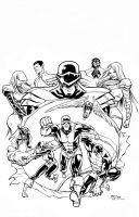 All New X-Men Cover Homage Black and White by thecreatorhd