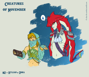 Nov 2 - Hylian + Zora by 2Due