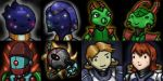 Space Game Character Portraits by KidneyShake