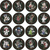 Chibi Left 4 Dead Badges by RedPawDesigns