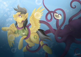 [Commission] Daring Do and the Octopus by Katyand