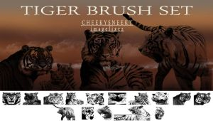 Tiger Brush Set by cheekysneeky