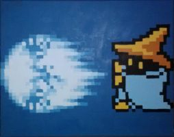Black Mage Casts Hadoken by Squarepainter