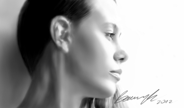 Digital drawing, portrait of a girl by MichalBednarczyk
