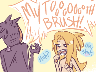 The Case of an Orange Toothbrush by BaronBamboozle