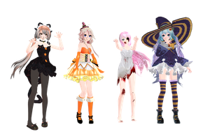 Mmd Halloween Models Download    By Glados Senp by Zombieland1452