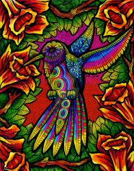 Sunset Hummingbird (SOLD) by HGCreations