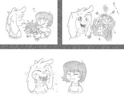A Rose to a Pansy by Smashedatoms