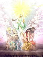 SNK/AOT - [COLORED] - The nine titan powers by Water-Rose457