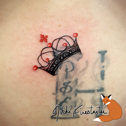 Crown Tattoo by NikkiFirestarter