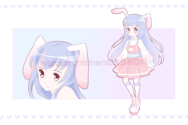 [CLOSED] Adoptable - Pink Purple Bunny by NicoleNinichan233