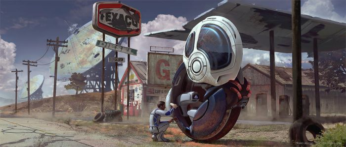 Gas Station by Dlestudio